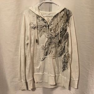 Maurices Plus Size 0X Hoodie Pullover Sequins 108